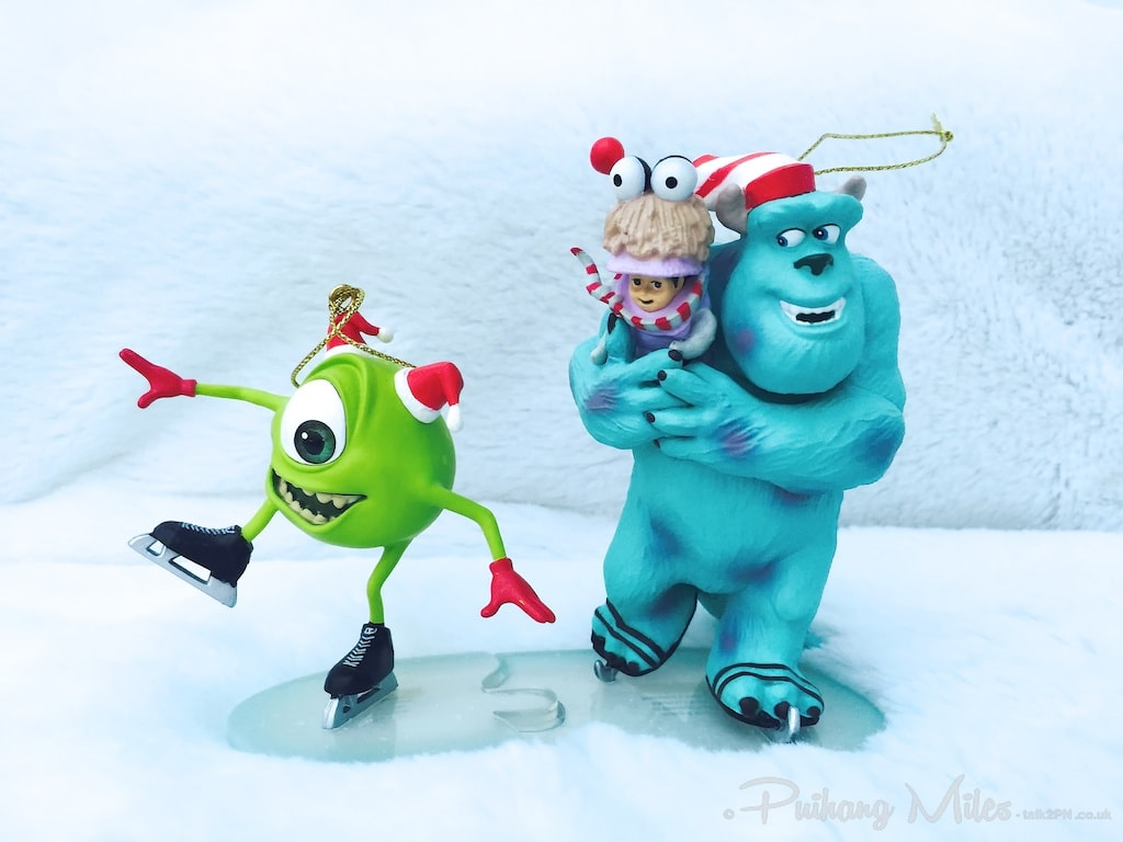 Mike, Boo & Sully from Disney's Monsters Inc Christmas Character Ornaments