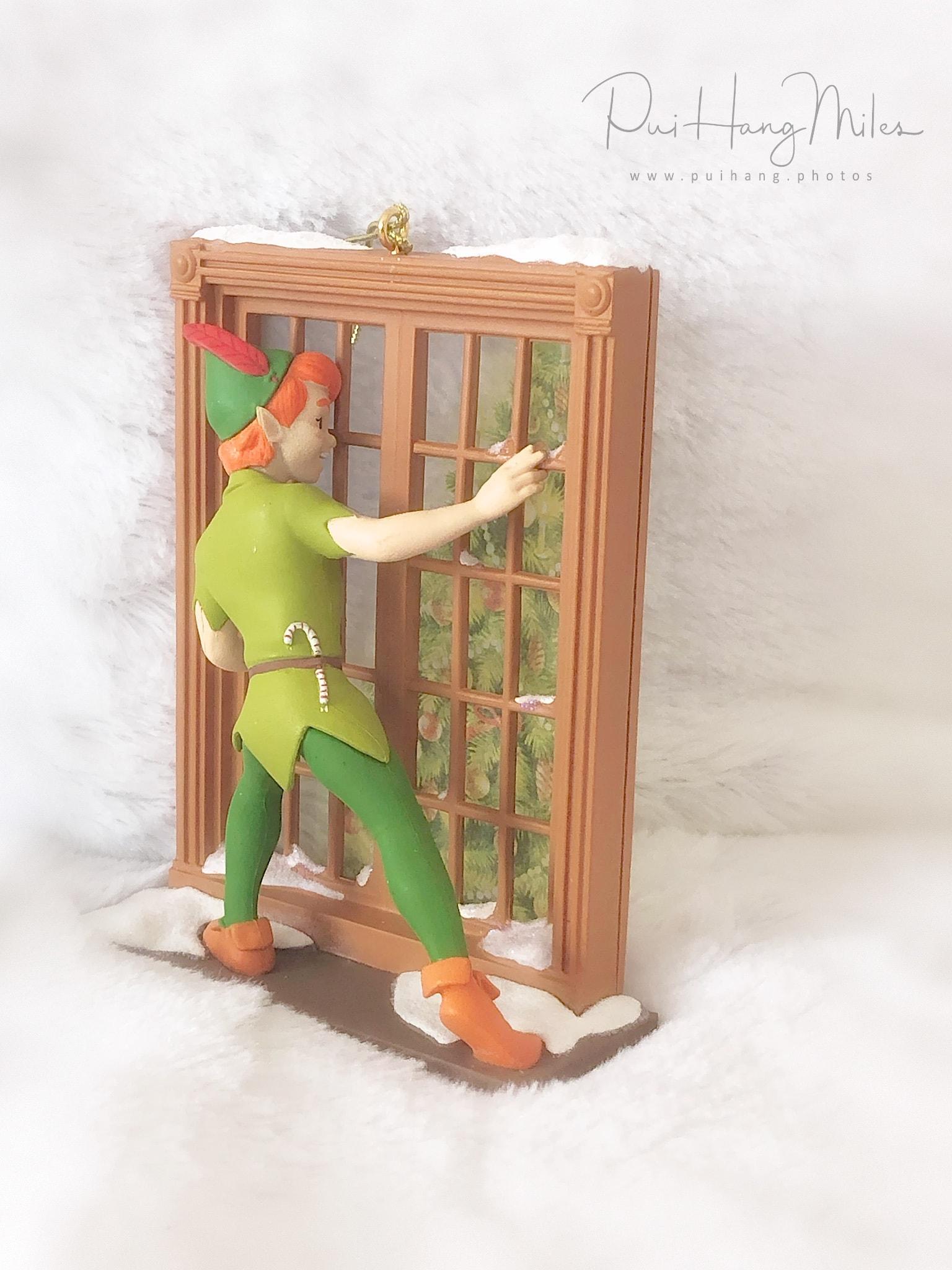 Peter Pan looking through the window